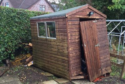 Shed wrecker: Police keen to trace owner of hydraulic rock