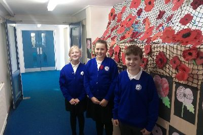 Remembrance Day 2018: Children create giant poppy to