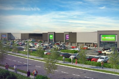 A Computer Generated Image Showing How The Retail Park Will Look
