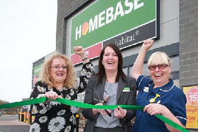Myton Hoe Staff Helped To Open The New Homebase In Rugby