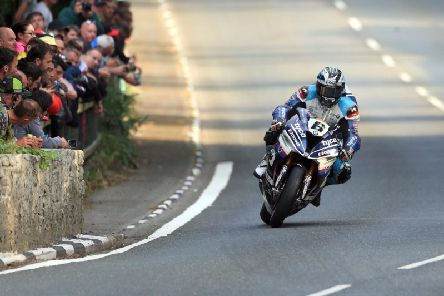 Michael Dunlop won the Superbike TT on the Tyco BMW in 2018.