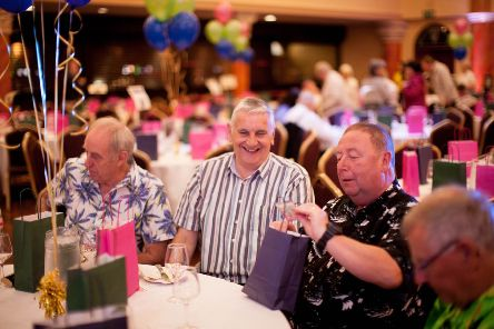 Nearly 400 people from Ballymena, Carrickfergus and Larne gathered in Ballymena to celebrate Mid and East Antrim Agewell Partnership's Peacing Ages Together project. (submitted picture)