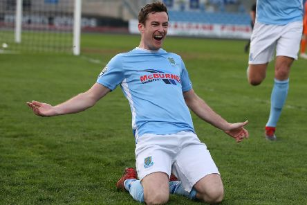 Ballymena United's Andy McGrory. Pic by INPHO.