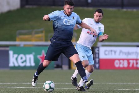 Joe McCready and defender Jim Ervin are now team-mates at Ballymena United, after the Institute striker made the switch to the Showgrounds.