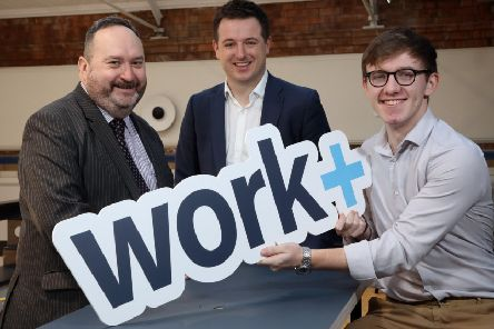 Workplus has announced that it has created 120 apprenticeship opportunities with 28 employers in Northern Ireland and applications are now open. At the launch were Jim Wilkinson, Director of Apprenticeships, Careers and Vocational Education at the Department for the Economy; Richard Kirk, Director of Workplus and Matthew Taggart from Ballymena, who is in the first year of a foundation degree apprenticeship in Civil and Environmental Engineering at Translink