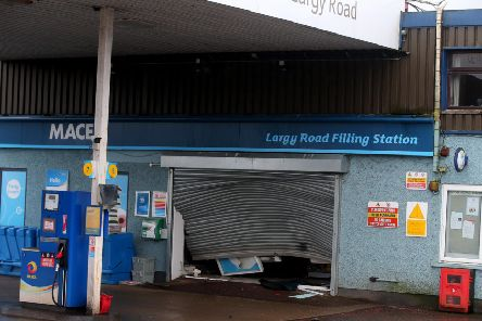 The damage after the failed attempted ATM theft bid on Friday. Picture: Jonathan Porter, Press Eye
