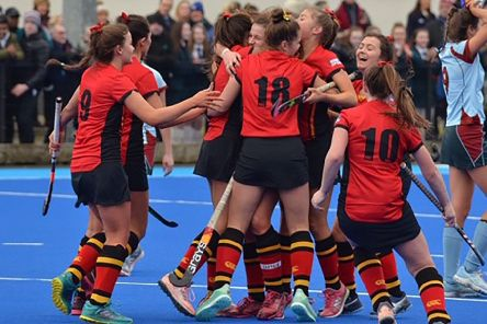 Banbridge Academy celebrate reaching their their fourth Schools' Cup Final in five years.
