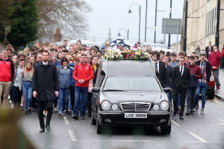 The''funeral of 17-year-old Morgan Barnard at St Patrick's Church in Dungannon, Co. Tyrone. Photo: Jonathan Porter/PressEye.com