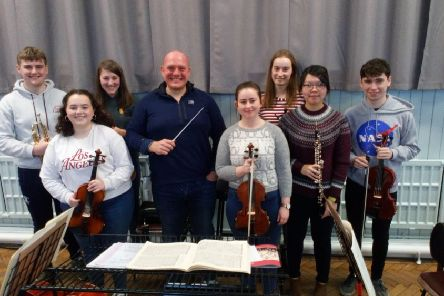 Pictured are local young musicians who will be performing in the concert