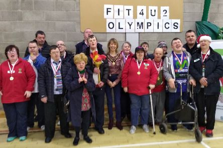 Pictured are the participants of the Southern Trust Fit 4 U Project at Banbridge Leisure Centre to celebrate 'International Day of People with Disabilities'