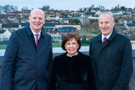 Pictured Brian Doran (Chief Executive, Southern Regional College), Minister Diane Dodds (Department for the Economy) and Martin Lennon (Managing Director, O'Hare & McGovern)