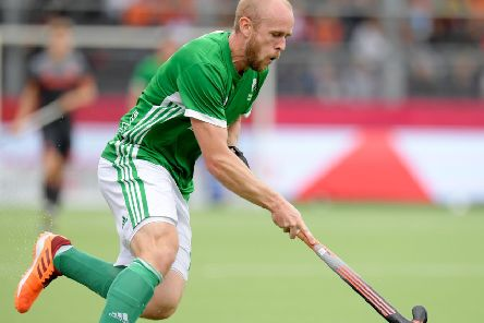 Eugene Magee on duty for Ireland. Pic by WorldSportPics/Frank Uijlenbroek.
