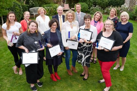 The Banbury Women In Business Awards winners with representatives from the award sponsors