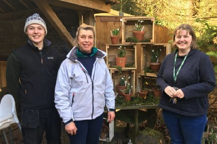 The Evenley Wood Garden team. (L-R) Gardener Tom Clarke, owner Nicola Taylor and events organiser Alison O'Hare NNL-190802-122629001