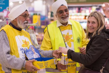 Marie Curie needs volunteers to hand out pins for the Great Daffodil Appeal next month. Photo: Marie Curie