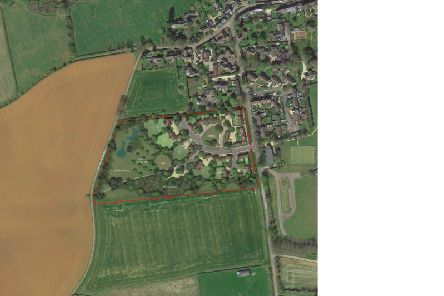 The plans, delineated in red, show the proposed development's homes, allotments, orchard and play ground area on the Hook Norton Road south of the village
