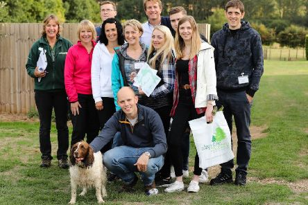 Ian Parker, front, with from left, back row, Andrew Jeffrey, Nigel Benton, Max Green, John Gardner. From left, middle, Anna Stephenson, Janette Curry, Marie Morgan, Maria Cunningham, Katya Gorkina and Jennifer Ricketts-Gregory.