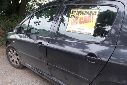 Police seized a car for having no insurance in Banbury. Photo: Thames Valley Police/Twitter