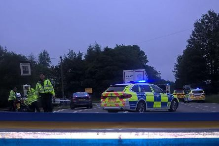 Emergency services at the scene of the crash on the A44 near Woodstock. Photo: Thames Valley Police/Twitter