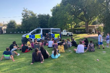 In one of many activities, children form positive relationships with the police at a residential weekend NNL-191015-122411001