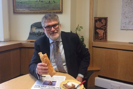 Mayor enjoys two treats to celebrate Bedfordshire Day