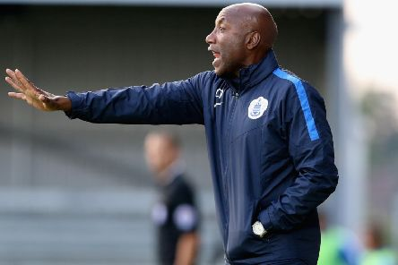 BARNET, ENGLAND - JULY 22:  Chris Ramsey, the QPR manager shouts instructions during the pre season friendly match between Queens Park Rangers and Dundee United at The Hive on July 22, 2015 in Barnet, England.  (Photo by David Rogers/Getty Images) PNL-191106-142708002