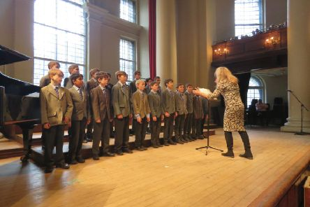 Lockers Park Prep School pupils performing at the event