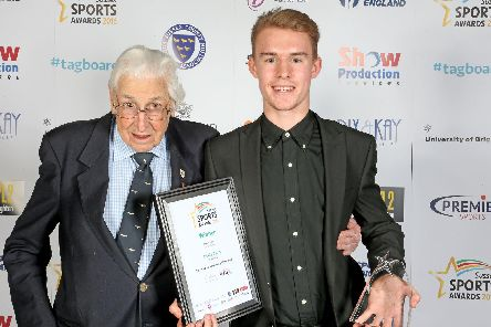 Sussex Sports Awards 2016 Young Sports Personality of the Year winner Archie Davis & Oldest Living Olympian Bill Lucas