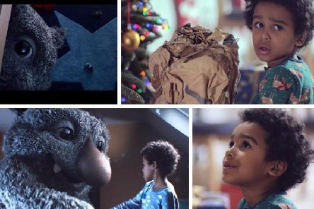 Moz the Monster and his friend Joe star in this year's John Lewis Christmas advert.