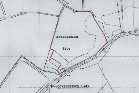 Location plan of a pit bike track near Bexhill