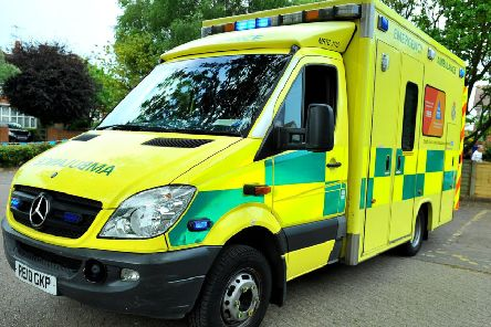 The ambulance service was called to the scene