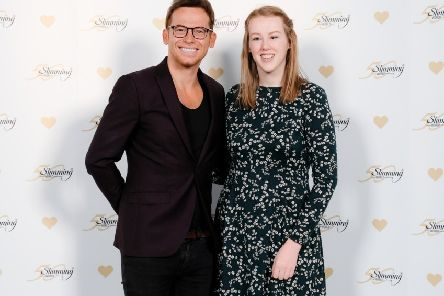 Joe Swash and Kathryn Bateman at the finals of Slimming World's Young Slimmer of the Year 2019 competition. SUS-190416-121510001