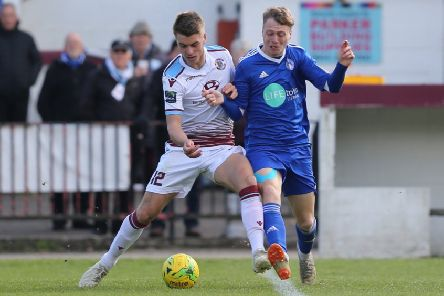 Jack Tucker in action during Hastings United's 1-1 draw at home to Hythe Town last weekend. Picture courtesy Scott White