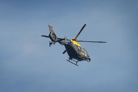Sussex Police Helicopter was sent to the incident