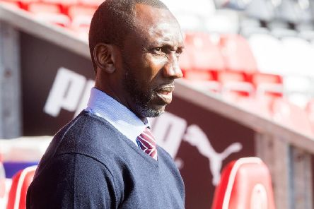 Jimmy Floyd Hasselbaink pictured while in charge of Northampton Town last year. Picture by Kirsty Edmonds