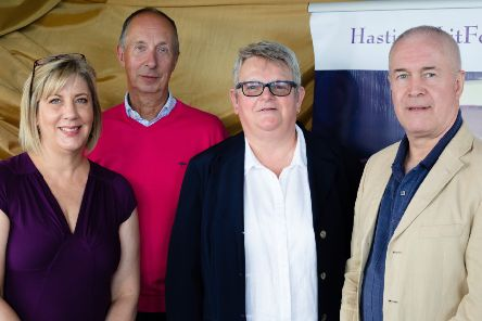 L-R: Andrea Samuelson; Antony Mair; New Writing South chief executive Lesley Wood and Glyn Carter