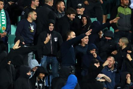 Bulgaria fans during England's 6-0 victory in the European Qualifier held in Sofia.