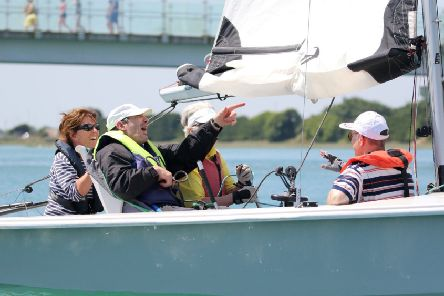Patrick Souiljaert on the RS Venture Boat, which he says is 'more serious sailing'