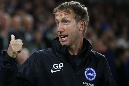 Brighton and Hove Albion head coach Graham Potter received an injury ahead of this Saturday's match against Aston Villa