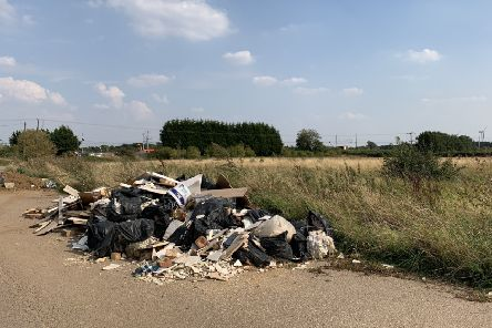 Biggleswade fly-tipping. Credit: Dr Hayley Whitaker.