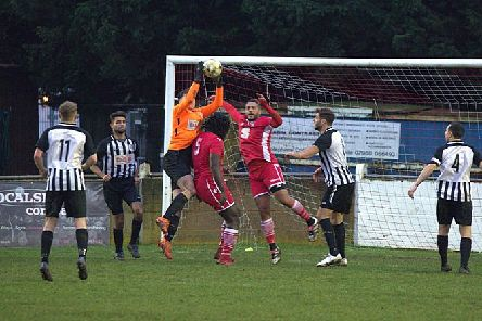 Action from Langford's victory over Bedford.