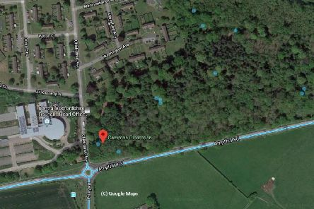 Chicksands Campton Plantation woods. Photo from Google Maps