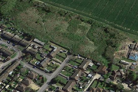 A satellite image of where the homes would have been. Picture via Google Maps