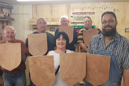 Children have been offered a chance to decorate their own wooden shields with their impression of Bognor Regis.