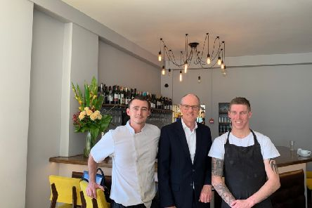 Shaun Mustard, Nick Gibb MP and Craig Mustard