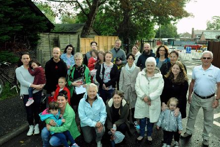 'Concerned and shocked' residents, past and present parents and former students of Rumboldswhyke school have rallied against the closure proposal. Photo: Kate Shemilt