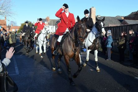 Blankney Hunt's Boxing Day meeting at Eastgate car park, Sleaford. EMN-171226-151531001