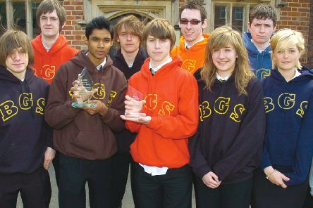 Members of Ambience at Boston Grammar School 10 years ago.