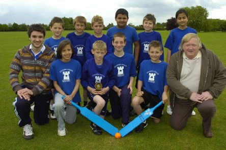 Tower Road's Chance to Shine cricket team 10 years ago.