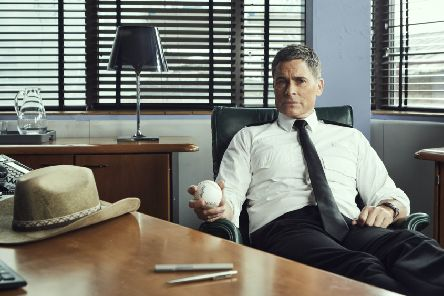 Settling in, Rob Lowe as Bill Hixon. Picture: ITV